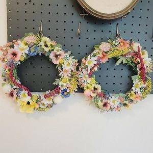 Other - HANDMADE wildflower floral wreaths
